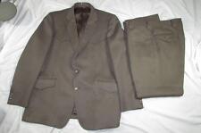 Vtg 70s 2 Pc Brown Polyester Western Suit Rockabilly Jacket & Pants Nice Design!