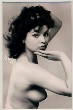 POUTING YOUNG NUDE WOMAN / NACKTE FRAU MIT SCHMOLLMUND * Vintage 50s Photo PC