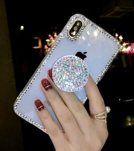 Luxury Bling Diamond Rhinestone Crystal Stand Case for iPhone 12 Pro Max 11 XR 8