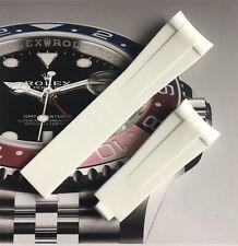 HQ Aftermarket White Rubber Strap For Rolex Submarine, GMT,Daytona 20mm
