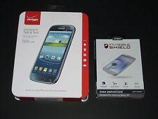 New Sealed Verizon Prepaid Samsung Galaxy S3 16GB Blue Smartphone+ZAGG Protector