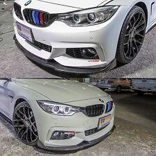 BMW F32 F33 F36 4 Series 428 430 435 440 Carbon Fiber Add On Front Lip Spoiler