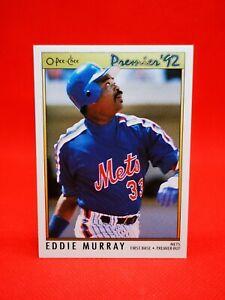O-PEE-CHEE 1992 carte card Baseball MLB NM+/M New York Mets #193 Eddie Murray