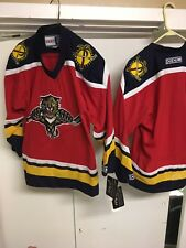 d3e3659ace4 Vintage Blue Florida Panthers Hockey Jersey 90s With Tags Youth L-xl