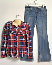 Shirt & Chip & Pepper Women's Jeans Light Washed Size 3 EUC Low Rise C7P Boot