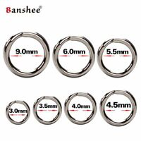 Split Rings For Lure Stainless Steel Solid Durable Premium Fishing Rings 100Pcs
