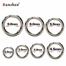 Split Rings For Lure Stainless Steel Solid Durable Premium Fishing Rings 100Pcs