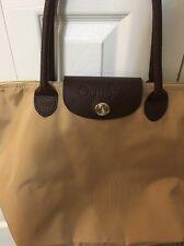 New 2017 TANGER OUTLET CLUB Turnlock Shopping Tote Handbag Bag KHAKI BROWN Tan