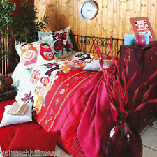 Stof Folklo Duvet Cover set in red multicolor 100% cotton - Single size
