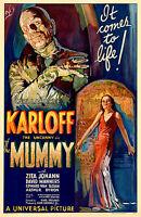 "The Mummy 1932 Movie Poster Boris Karloff - 17"" x 22"" Fine Art Print - 00229"