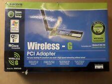 Linksys WMP54G Wireless-G PCI Adapter 54Mbps 2.4GHz