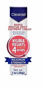 Clearasil Rapid Rescue Spot Treatment Cream Maximum Strength 1 Oz exp 9/20