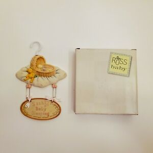 Baby Girl Precious Keepsakes Wall Hanging Plaque by Russ Handpainted Pink Cute