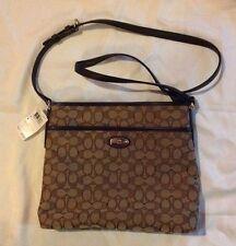 New Coach F36182 Signature File Bag Crossbody Handbag Authentic NWT