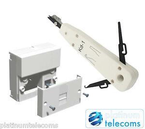 2021 Kauden BT Openreach NTE5A Master Telephone Socket Back Box IDC punch tool