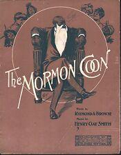 The Mormon Coon 1905 Large Format Sheet Music Sheet Music