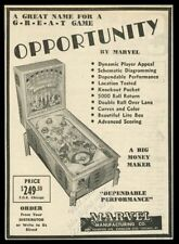 1946 Marvel Opportunity pinball machine photo vintage trade print ad