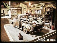 Diorama garage 1:18 ROUTE 66 American Diorama