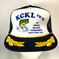 Vintage KCKL FM 96 6th Annual Big Bass Tournament Cedar Creek Lake Snapback Hat