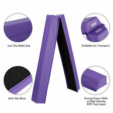 6ft Purple Balance Beam Extra Firm Vinyl Folding Gymnastics Beam Tumbling Home