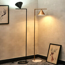 New Modern Rotatable Conical lampshade LED Floor Lamp  Marble base Standard Lamp