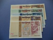 PORTUGAL  SET  5  NOTES  500 TO 10.000 ESCUDOS  1996/7   UNC