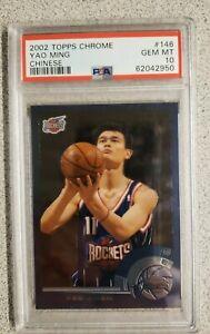 2002-03 Tops Chrome Yao Ming Rookie Chinese #146 Rockets PSA 10