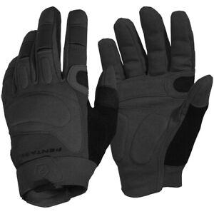Pentagon Karia Gloves Suede Leather Suede Knuckle Protection Grip Gauntlet Black