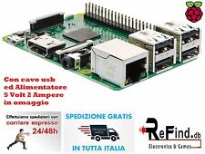 Kit Raspberry Pi 3 (2016) Model B 1GB RAM WiFi e Bluetooth + usb + alimentatore
