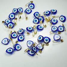 Turkish Handmade 41 Pieces Evil Eye With Safety Pin For Good Luck-Original Blue