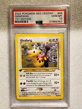 1st Edition Neo Destiny Girafarig PSA GEM Mint 10