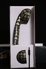 Rebecca Minkoff Pop Phone - Black & Gold Hearts Handset for Cell Phones NEW