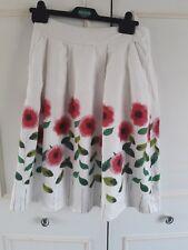 **SEASALT*** white floral pallette linen skirt - Size 8