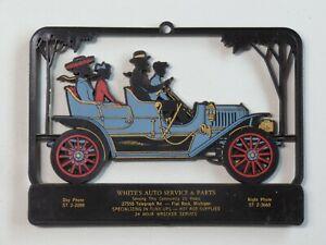 Vintage Advertising Calendar Topper Plastic White's Auto Supply Family Sedan MI