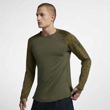 Nike Pro Men's Long Sleeve Utility Training Top Olive Medium 929703-395 04