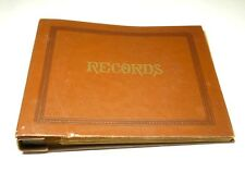 "45 RPM 7"" Vinyl Record Storage Album Book Holder Folders Vintage Brown"