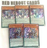 3x Mythical Beast Master Cerberus + 2x Jackal King  All Super Rare Mint Yugioh