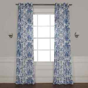 Grommet Xenia Printed Sheer Curtain (Sold Per Panel)