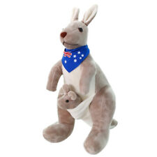 F7 Sweet Kangaroo Stuffed Animal Soft Plush Doll Toys for Baby Kids (blue) O3j5