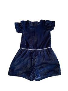 Gap Blue Velvet Playsuit - Age 8!