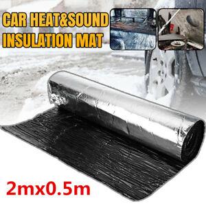 Glass Fiber Hood Firewall Heat Sound Deadener Insulation Mat Fit For Car Truck