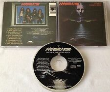 Annihilator - Never, Neverland CD OOP 1990 ROADRACER agent steel