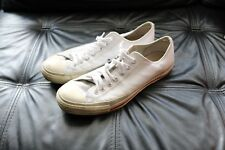 converse all star lo white leather trainers size 10 uk used condition