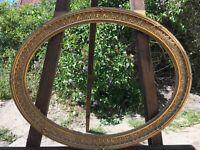 ANTIKER BILDERRAHMEN OVAL UM 1880 BIEDERMEIER EMPIRE OHNE GLAS INNEN 53,6 X 40,2