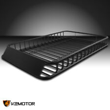"62""x39"" Universal Roof Rack Luggage Hold Cargo Car Top Carrier Basket SUV Truck"