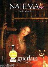 PUBLICITE ADVERTISING 125  1980  Guerlain  parfum Nahema