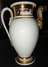 Grande cafetière porcelaine de Paris EMPIRE tête de cheval blason abeille