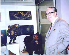 8 x 10 color photo of FORREST J ACKERMAN at a horror movie museum.