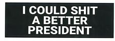 Anti-Trump Bumper Sticker Decal Bernie Warren Biden President 2020