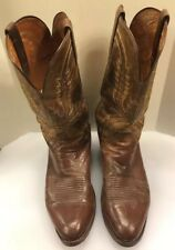 1883 by Lucchese Men 11 D Western Cowboy Boots Brown Restored